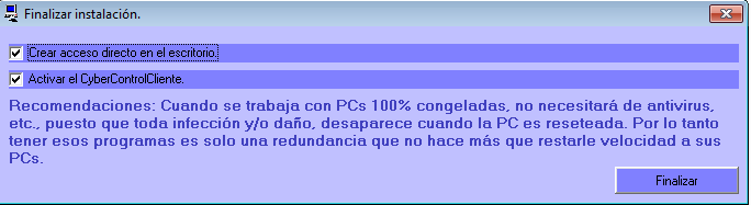 ClientInstallConclude